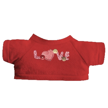 "T-shirt with embroidery ""LOVE"""
